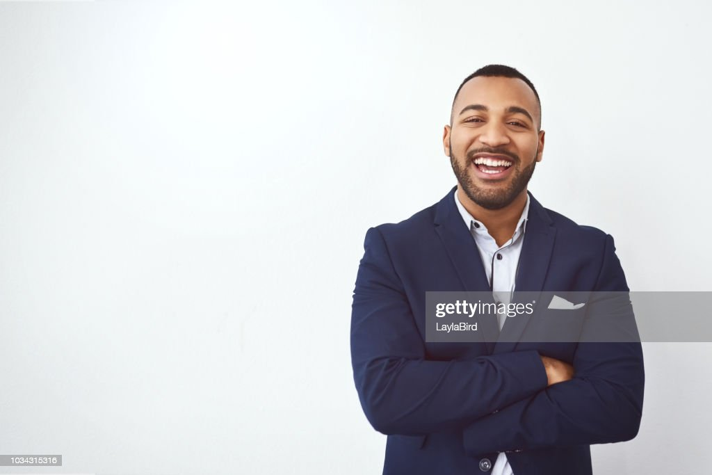 Facing business straight on : Stock Photo