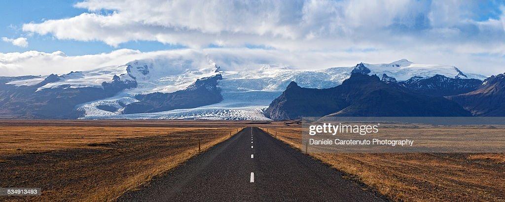 Facing the glacier : Stock Photo