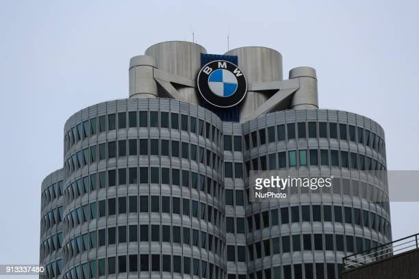 BMW facory is seen during a strike at a BMW factory site in Munich Germany 2 February 2017 A few thousand came to the rally in front of the BMW...