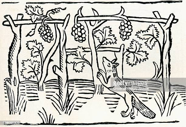 Facsimile Of The Illustration To The Fox And Grapes From Caxton's Translation Of Aesop's Fables From The Book Short History Of The English People By...