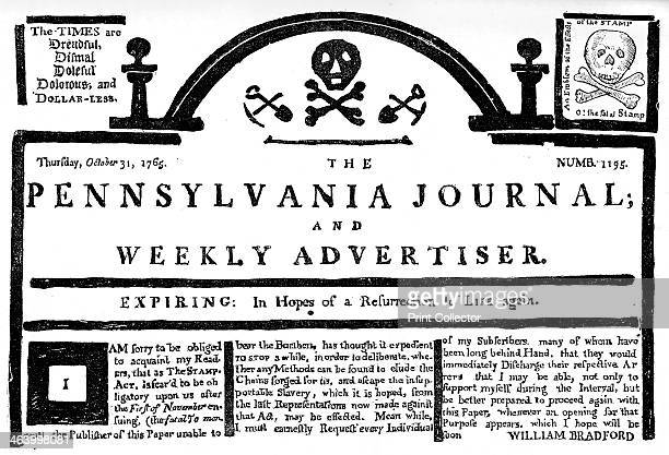 Facsimile of the Pennsylvania Journal on the Stamp Act 1765 The Stamp Act of 1765 was the first attempt by the British government to impose direct...