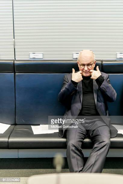 CSU faction leader Volker Kauder attends the meeting of CDU/CSU party faction on January 30 2018 in Berlin Germany