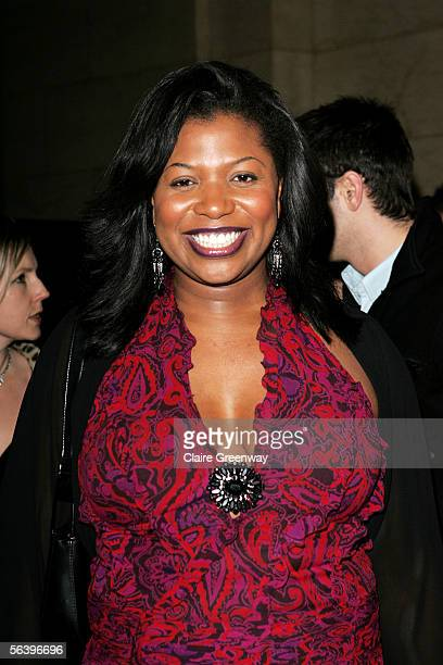 X Factor contestant Brenda Edwards attends the after show party following the UK Premiere of King Kong at Freemason's Hall on December 8 2005 in...