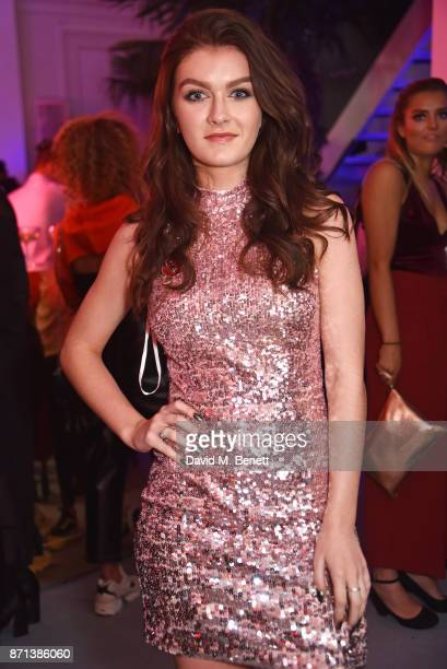 Factor contestant Holly Tandy attends a party hosted by Gigi Hadid to launch her new limitededition Maybelline collection on November 7 2017 in...