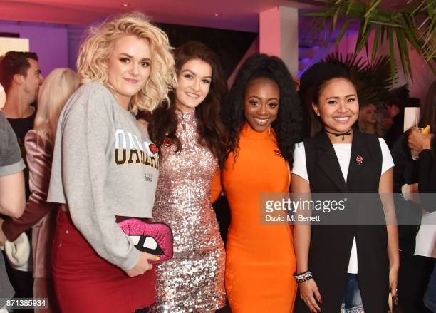 Factor contestants Grace Davies Holly Tandy RaiElle Williams and Alisah Bonaobra attend a party hosted by Gigi Hadid to launch her new limitededition...