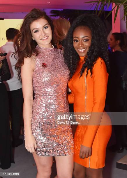 Factor contestants Holly Tandy and RaiElle Williams attend a party hosted by Gigi Hadid to launch her new limitededition Maybelline collection on...
