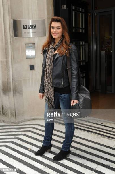 Factor finalist Carolynne Poole pictured at Radio 2 on October 2 2012 in London England