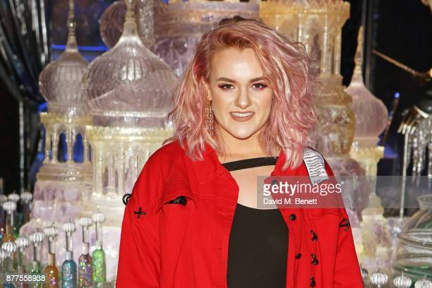 Factor finalist Grace Davies attends the VIP launch of 'Hogwarts In The Snow' at Warner Bros Studio Tour London The Making Of Harry Potter on...