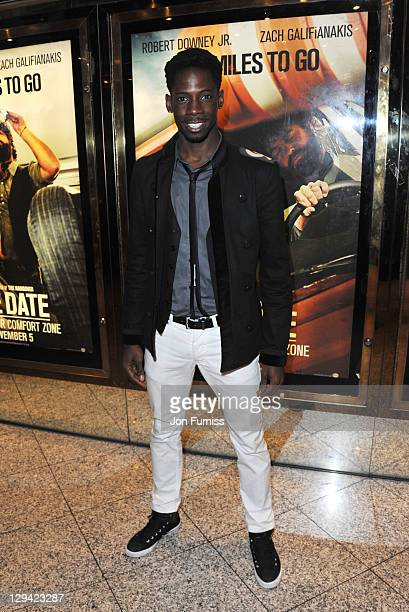 Factor finalist John Adeleye attends the European Premiere of Due Date at Empire Leicester Square on November 3, 2010 in London, England.