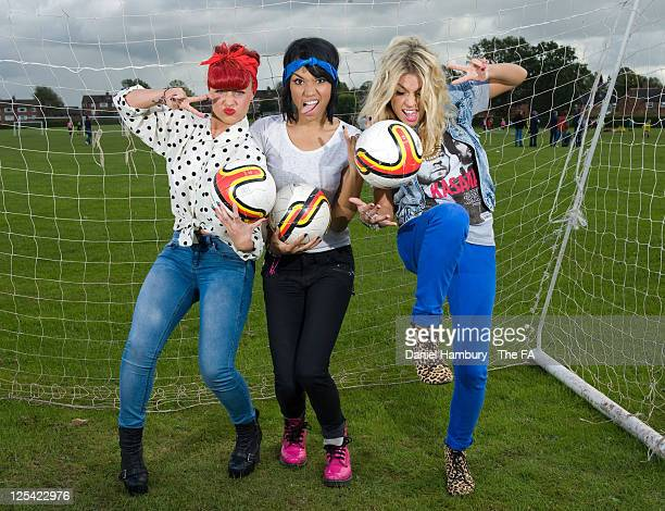 Factor finalists Belle Amie pose for a photograph to promote the FA WSL Continental Cup Final, which culminates at Burton Albion FC on Sunday 25th...