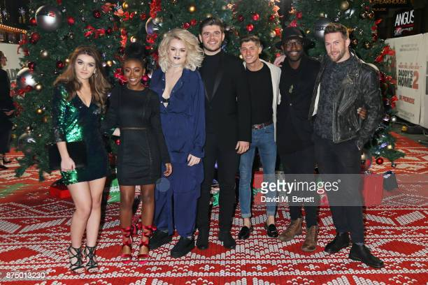 Factor finalists Holly Tandy RaiElle Williams Grace Davies Lloyd Macey Sam Black Kevin Davy White and Matt Linnen attend the UK Premiere of 'Daddy's...