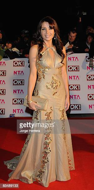Factor judge Dannii Minogue arrives at the National Television Awards held at the Albert Hall on 29th October 2008 in London England