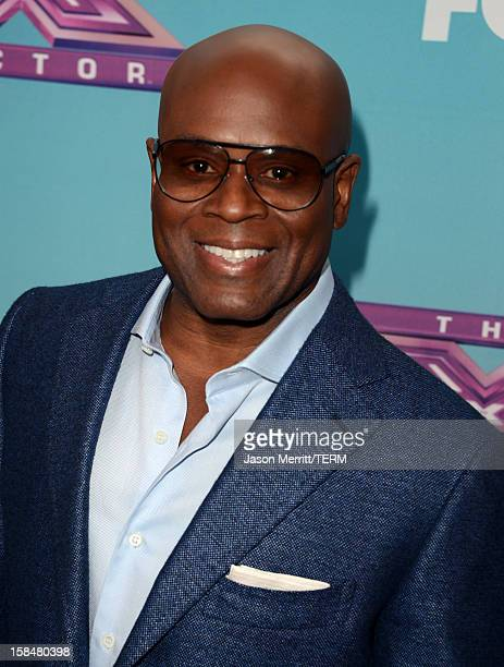 Factor Judge LA Reid attends Fox's 'The X Factor' season finale news conference at CBS Television City on December 17 2012 in Los Angeles California