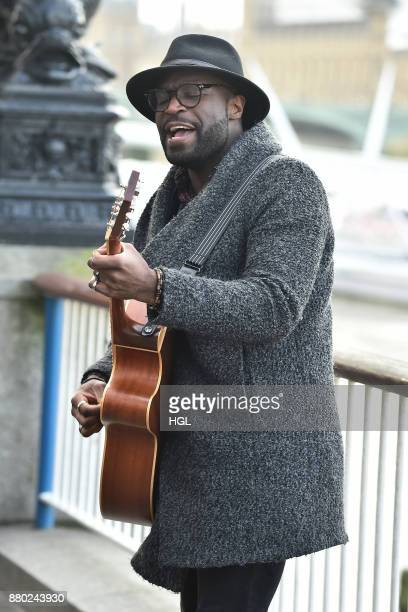 Factor semifinalist Kevin Davy performs a homecoming gig at the London Eye on November 27 2017 in London England