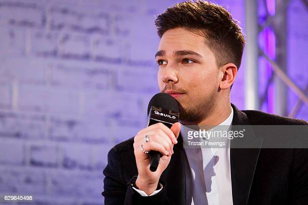 Factor winner Matt Terry takes part in a Build LDN talk at AOL London on December 14 2016 in London England