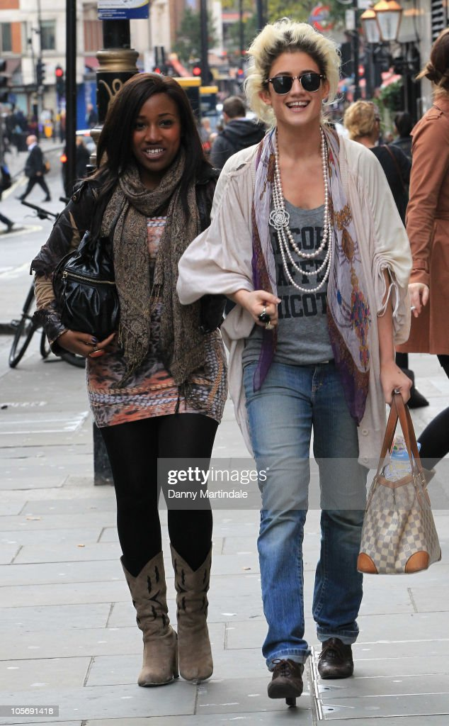 X Factor S Tracey Cohan And Katie Waissel Are Seen Ping In Covent Garden On October 19