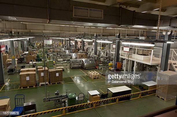 Fabrik Förderanlage Speisen Verpackung
