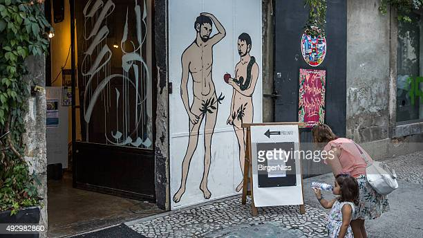 lx factory, lisbon, portugal - adam and eve stock pictures, royalty-free photos & images