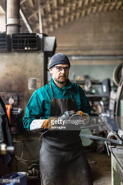 Fabrik Mann Porträt