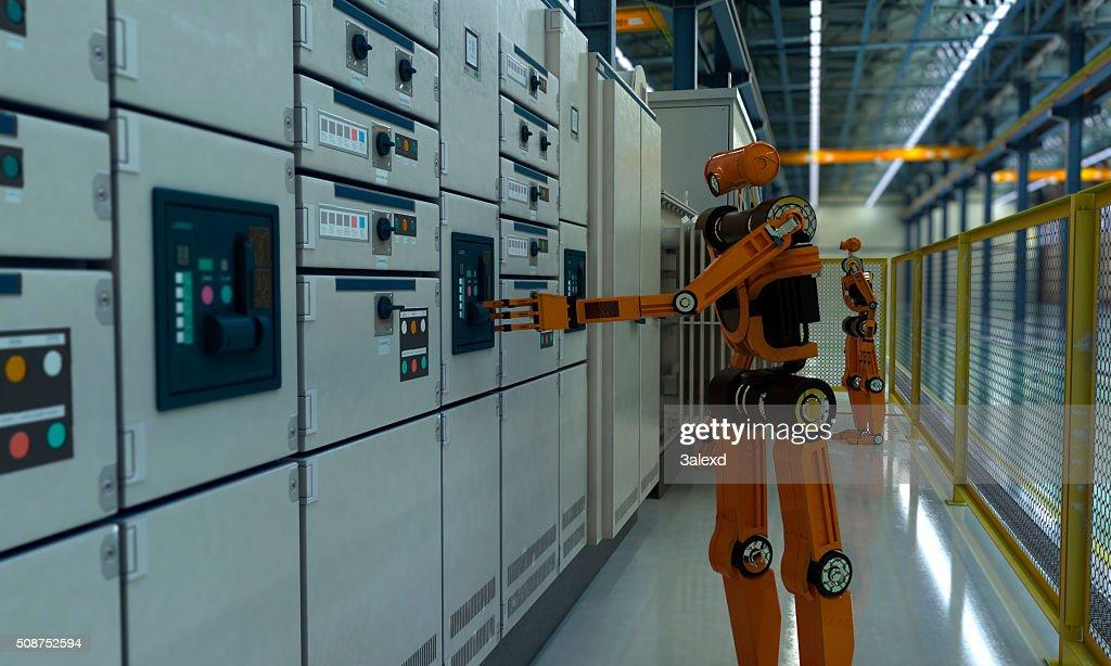 Fábrica de futuro : Foto de stock