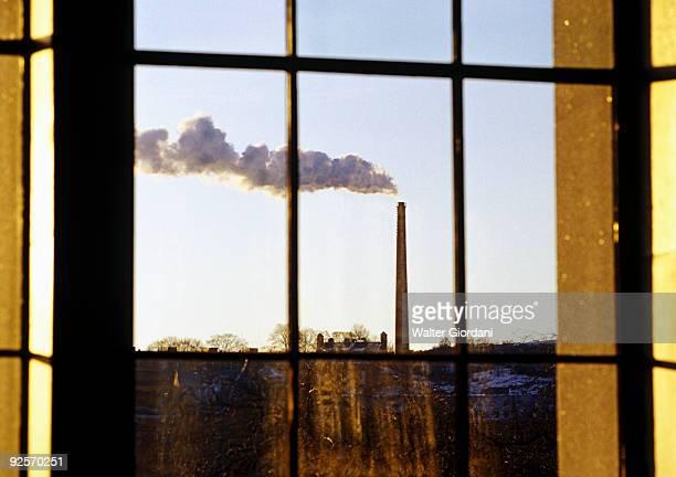 Factory outside of a window