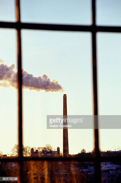 Factory outside of window