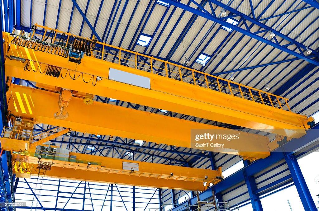 Factory overhead crane : Stock Photo