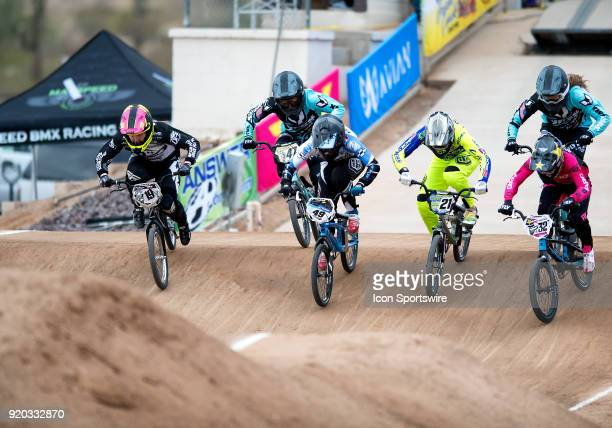 Factory Powerlite/DFR's Sabrina Bice , Yess BMX's Heather Collman , Pure Bicycle Company's Daina Tuchscherer of Canada , Ssquared Bicycles' Lauren...