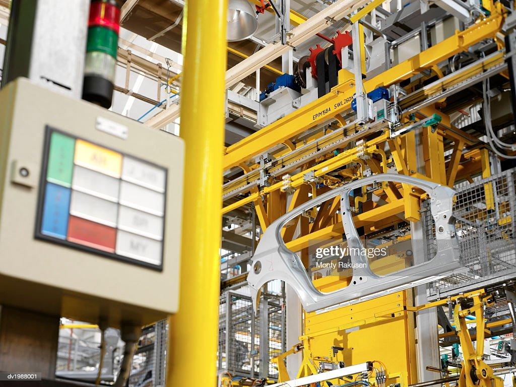 Factory Producing Car Parts : Stock Photo