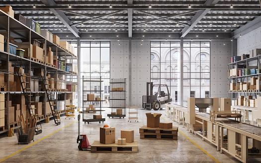 Factory warehouse interior 1149521311