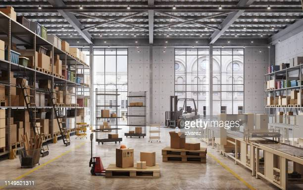 factory warehouse interior - storage compartment stock pictures, royalty-free photos & images
