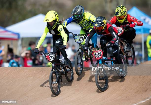 Factory Wiawis/LSG's Zoe Fleming of New Zealand , Ssquared Bicycles' Lauren Reynolds of Australia , Haro Racings Brooke Crain , and Factory J&R's...