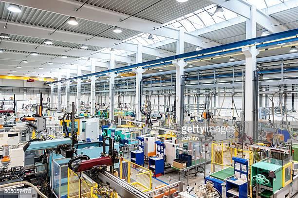Máquinas de fábrica com