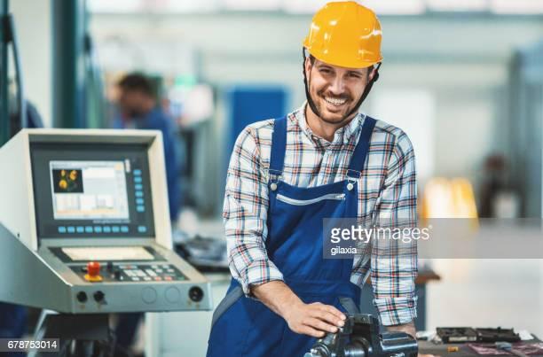 Fabrikarbeiter.