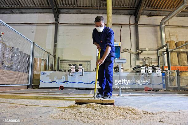 factory worker sweeping landscape - sweeping stock pictures, royalty-free photos & images