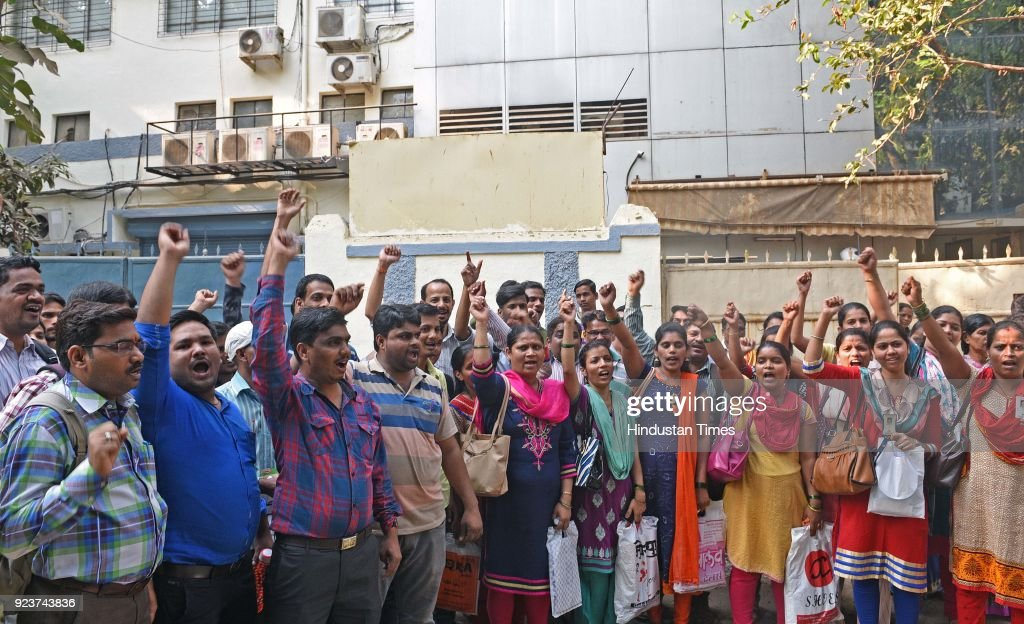 Hundreds Of Gitanjali Gems Workers Protest Over Uncertainty Of Employment