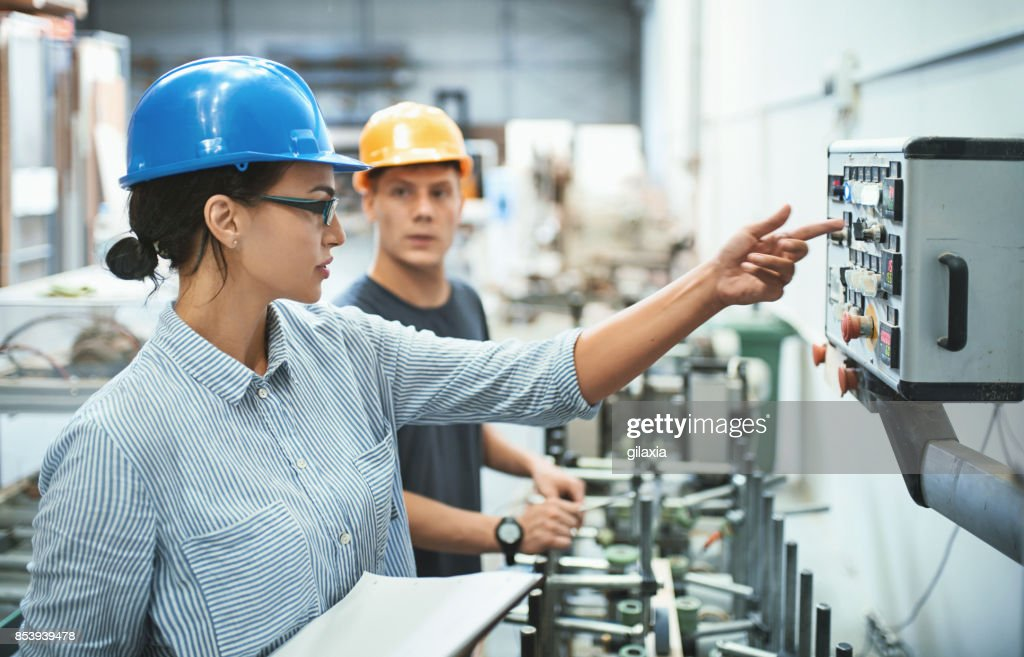 Factory workers. : Stock Photo