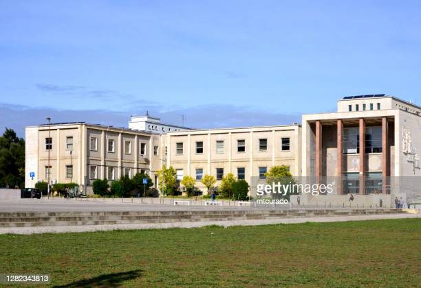 'faculdade de letras', the humanities school of the university of lisbon, portugal - humanities stock pictures, royalty-free photos & images