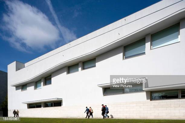 Faculty Of Media Science University Of Santiago De Compostela Alvaro Siza Spain 2001 EastWest Axis With Building Facade In Perspective Santiago De...