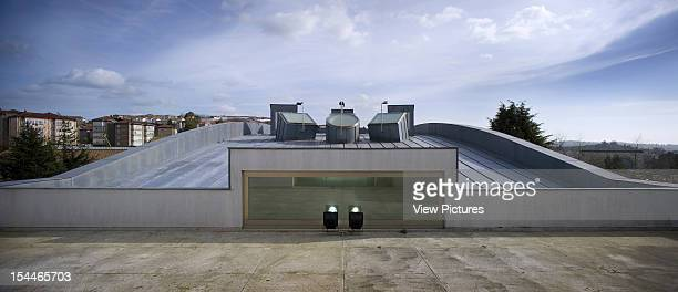 Faculty Of Media Science University Of Santiago De Compostela Alvaro Siza Spain 2001 Panoramic View Of Roofs And Cityscape Santiago De Compostela...