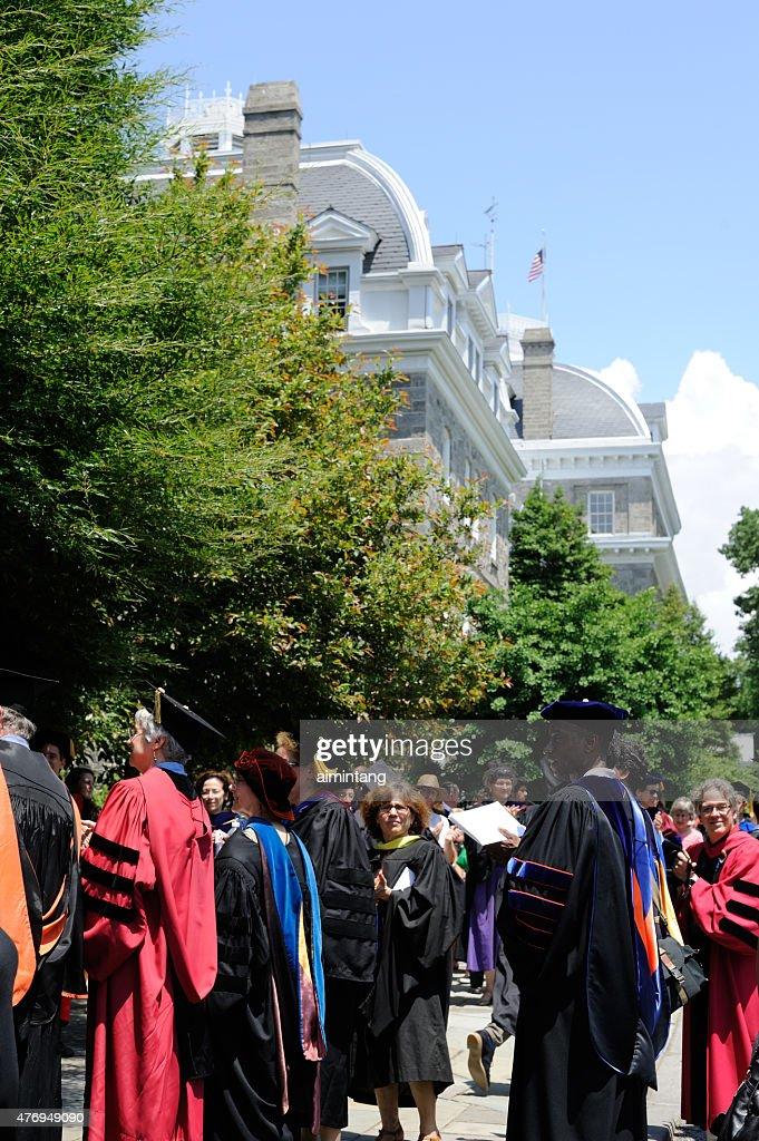 Swarthmore Graduation 2020.Faculty On Commencement Day At Swarthmore College High Res