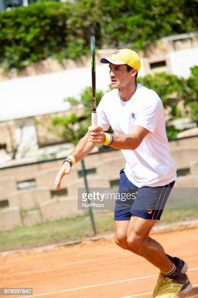 Riccardo Balzerani during match between Johannes Haerteis and Riccardo Balzerani during day 4 at the Internazionali di Tennis Citt dell'Aquila in...