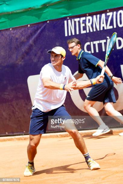 Facundo Bagnis during match between Andrea Pellegrino and Facundo Bagnis during day 4 at the Internazionali di Tennis Città dell'Aquila in L'Aquila,...