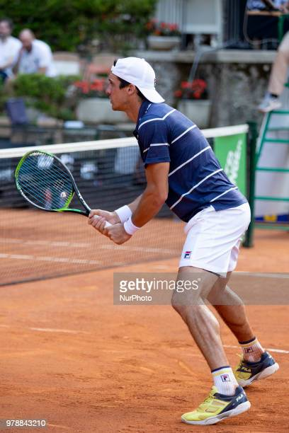 Facundo Bagnis during match between Facundo Bagnis /Ariel Behar and Andrea Arnaboldi/Daniele Bracciali during day 4 at the Internazionali di Tennis...