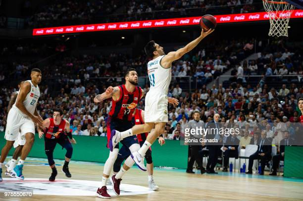 Facundo Campazzo #11 center of Real Madrid during the Liga Endesa game between Real Madrid and Kirolbet Baskonia at Wizink Center on June 15 2018 in...