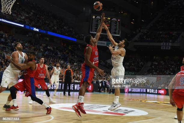 Facundo Campazzo #11 of Real Madrid in action during the Euroleague basketball match between Real Madrid and CSKA Moscow at WiZink Center in Madrid...
