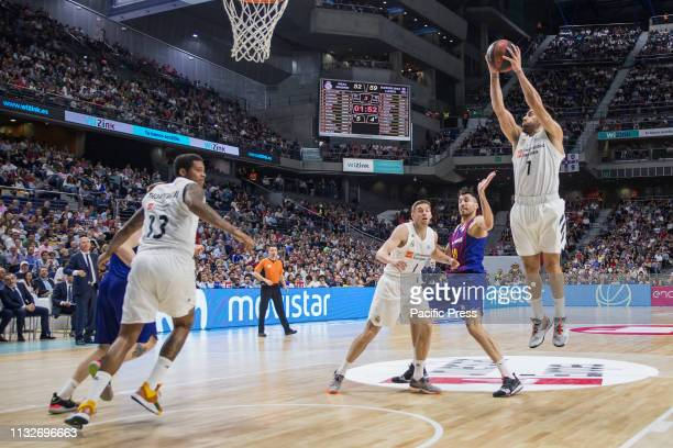 Facundo Campazzo during FC Barcelona Lassa victory over Real Madrid in Liga Endesa regular season game celebrated in Madrid at Wizink Center March...