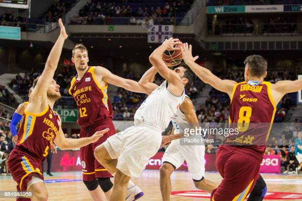 Facundo Campazzo during Real Madrid victory over Herbalife Gran Canaria in Liga Endesa regular season game celebrated in Madrid at Wizink Center...