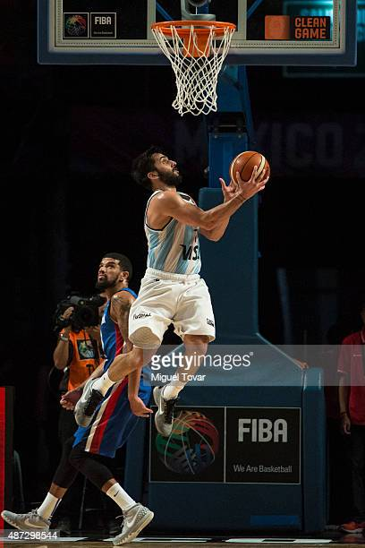 Facundo Campazzo of Argentina goes for the basket during a second stage match between Argentina and Dominican Republic as part of the 2015 FIBA...