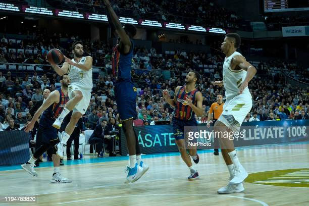 Facundo Campazzo of Real Madrid during the Spanish League, Liga ACB, basketball match, Regular Season, played between Real Madrid and Baskonia at...